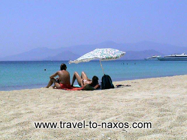 Agios Prokopios is considered one of the best beaches of Naxos.