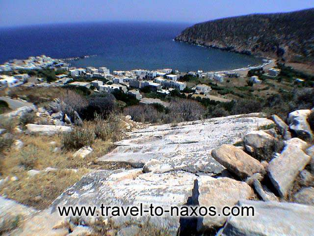 APOLLONAS - View of Apollonas village from above.