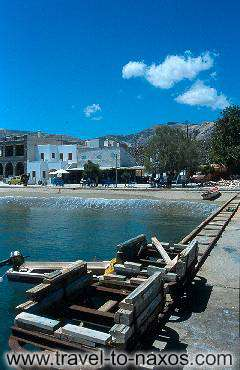 MOUTSOUNA BEACH - A view of the picturesque little harbour at Moutsouna.