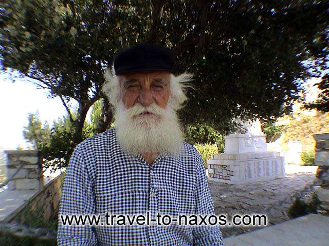 A kind old man in Apeiranthos village that gave us instructions (in Greek!)