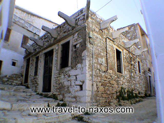 APIRANTHOS IRONSHOP - An old traditional building in Apiranthos.