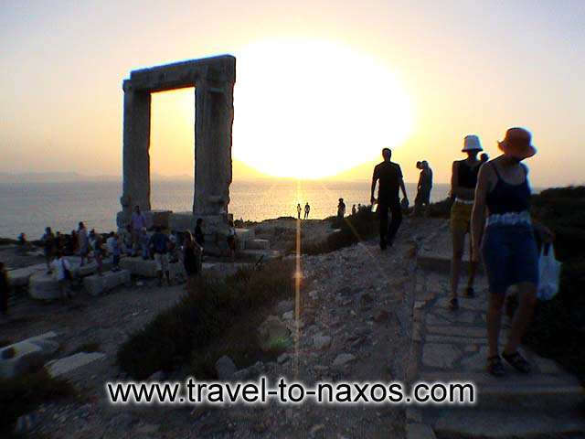 PORTARA - During your holidays at Naxos, you have to see a sunset from Portara.