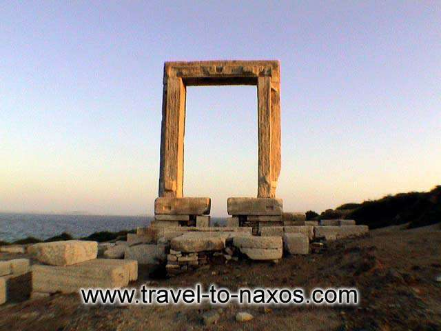 PORTARA - Portara is the archaic gate of the temple of god Apollonas.
