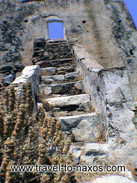 AGIAS TOWER - The Old stairs of the tower.