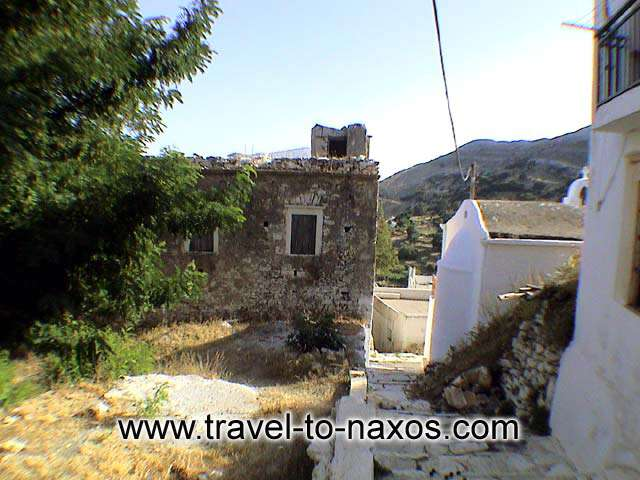 NARROW PATHWAY - A part of the traditional settlement in Apiranthos.