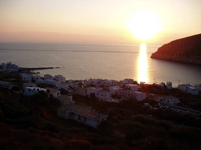 SUNSET - Sunset at Apollonas village in Naxos island