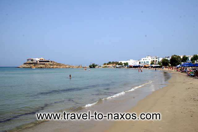 AGIOS GEORGIOS ISLET - The small islet in front of Naxos town hall separates Agios Georgios beach from the port