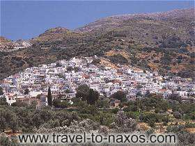 FILOTI VIEW - Filoti is the biggest village of Naxos. It is built amphitheatrical at the roots of Za mountain.