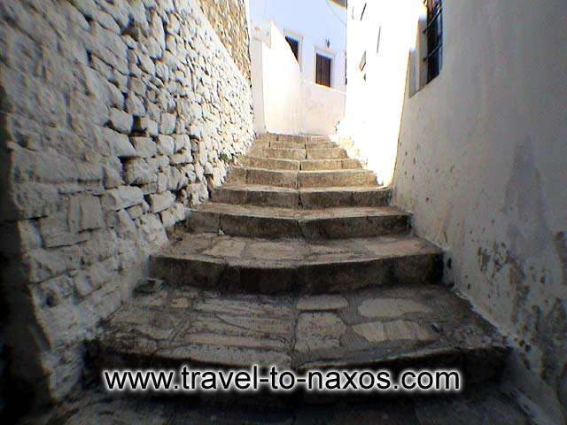 APIRANTHOS NARROW STREET - Apiranthos village characterized from its mediaeval architecture.