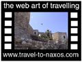 Travel to Naxos Video Gallery  - Castle of Naxos - A walk from Paraporti (one of the 3 entrances to Naxos castle area) through the narrow pathways of the Akropolis of Naxos to the Catholic church, the Byzantine museum ending at the