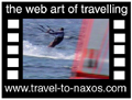 Travel to Naxos Video Gallery  - Naxos Wind surfing  -  A video with duration 1 min 11 sec and a size of 972  Kb